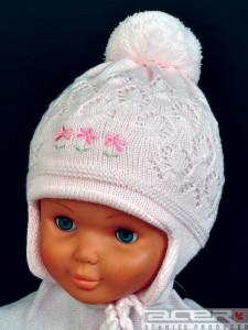 Mädchen Mütze mit Pompon