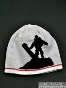 Mütze mit Stricken Jacquard