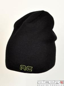 Schwarz Mütze mit Stickerei