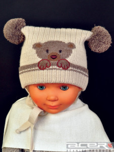Teddy beanie for boy