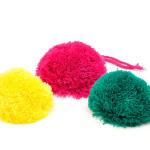 Einfarbige Pompons