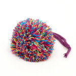 Multicolour pompom