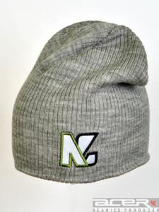 Grau Mütze mit Stickerei