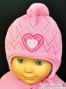 Mädchen Mütze mit Herz