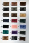 Leather patches for apparel - colours